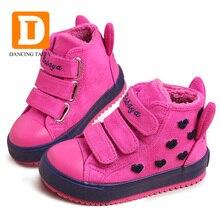 Botas De Borracha inverno Botas De Meninas Novas 4 Cores Da Moda Quente Crianças Sapatilhas Crianças Botas Sapatos Meninas de Couro Rebanho de Pelúcia Plataforma Plana