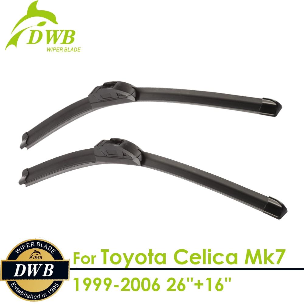 "wiper blades for toyota celica mk7 1999 2006 26""+16"", 2pcs free"