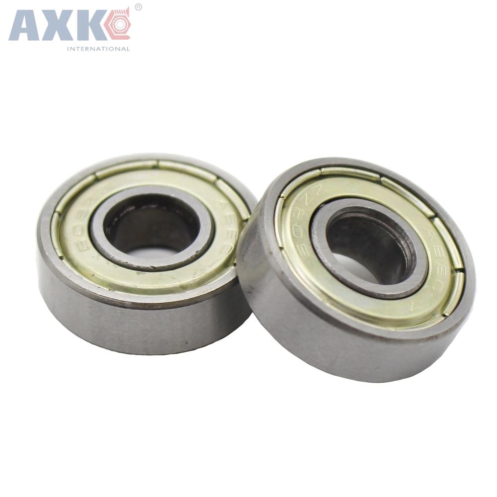AXK  10pcs 608ZZ 8X22X7 Miniature Radial Bearings Deep Groove Ball for 3D printer Free Shipping