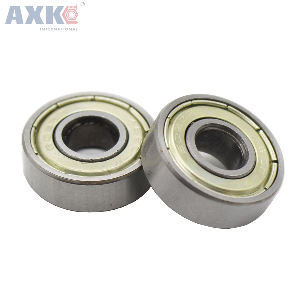 AXK 1pcs 608ZZ 8X22X7 Miniature Radial Bearings Deep Groove Radial Ball for 3D printer Free Shipping