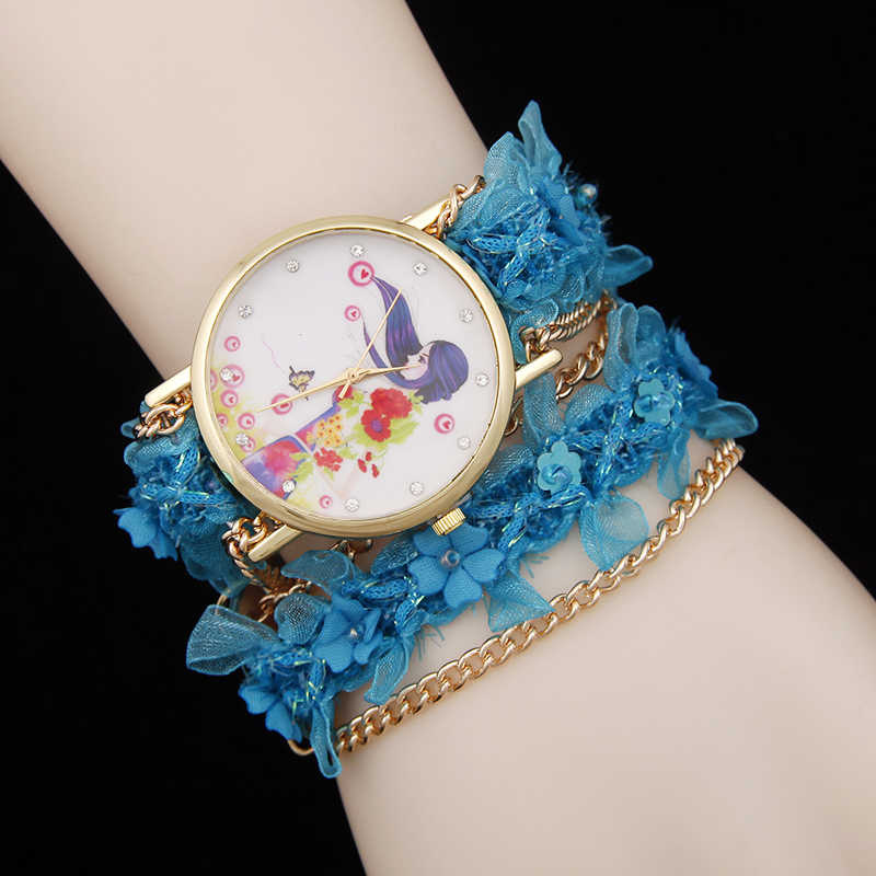 Hot selling casual style floral bracelet watch women fashion high quality chain quartz watch new factory outlets montre femme price drop hot selling casual leather watch women and men high quality simple quartz watch 2016 new student watch factory direct