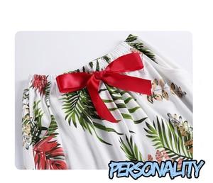 Image 5 - BZEL 여성 잠옷 세트 코튼 긴 소매 피자 마 Mujer 플라밍고 인쇄 Loungewear 도매 캐주얼 잠옷 Femme 빅 사이즈 M 3XL