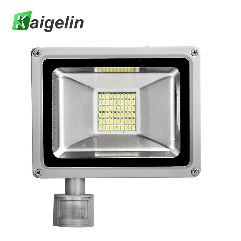 30W 220V-240V PIR Infrared Motion Sensor LED Flood Light 3300LM PIR Motion Sensor LED Floodlight LED Lamp For Outdoor Lighting