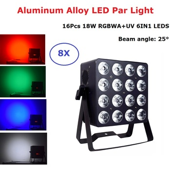 Aluminum Alloy LED Flat Par 16X18W Stage Lighting Effect Dj Par LED Light DMX 512 Disco Light DMX Dj Wash Lighting Wedding Club chauvet dj dmx an