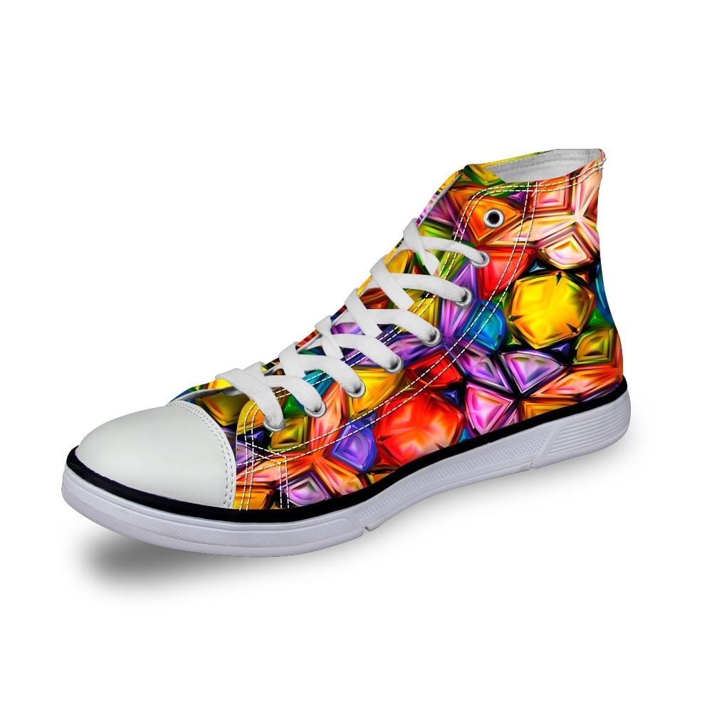 Noisydesigns Farbe Jungen Designer Schuhe 3D Druck Männer Casual - Herrenschuhe - Foto 4