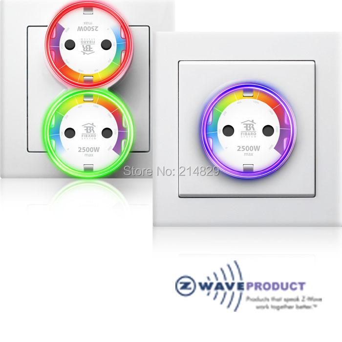 Fibaro-z-wave Plus prise murale Type F, FGWPF-102 charge maximale 2500 W 868.42 Mhz