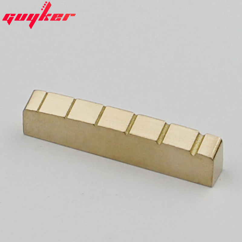 Solid Brass Slotted Guitar Nut 43mm For LP Guitars