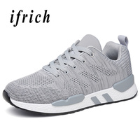 Mangobox Runners Men Summer Athletic Sneakers Fly Wire Breathable Men Outdoor Running Shoes Black Gray Running Trainers For Men