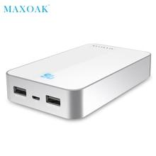 MAXOAK Dual USB Power bank Portable Mobile Phone Charger 13000mA Powerbank For Redmi 3 External Battery
