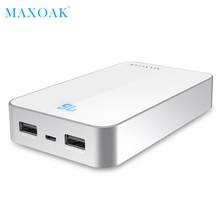 MAXOAK Twin USB Energy financial institution Transportable Cell Telephone Charger 13000mA Powerbank For Redmi Three Exterior Battery