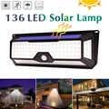 136 118 luces de calle LED a prueba de agua energía Solar PIR Sensor de movimiento luz de pared iluminación al aire libre tierra jardín lámpara camino patio de casa