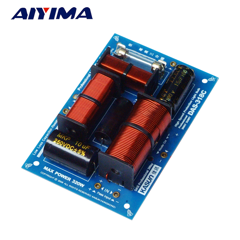 AIYIMA Audio Speaker Frequency Divider 320W Fever HIFI Three-way Divider DIY Professional Crossover Filter