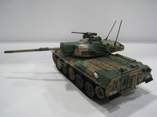 AMER 1/72 Scale Military Model Toys JGSDF Type 74 Nana-yon Main Battle Tank Diecast Metal Tank Model Toy For Collection/Gift
