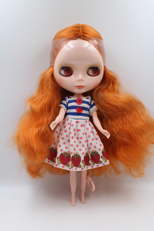 Special offer Blyth doll Light brown curly-haired nude doll 7 joint body DIY doll general body fashion doll.