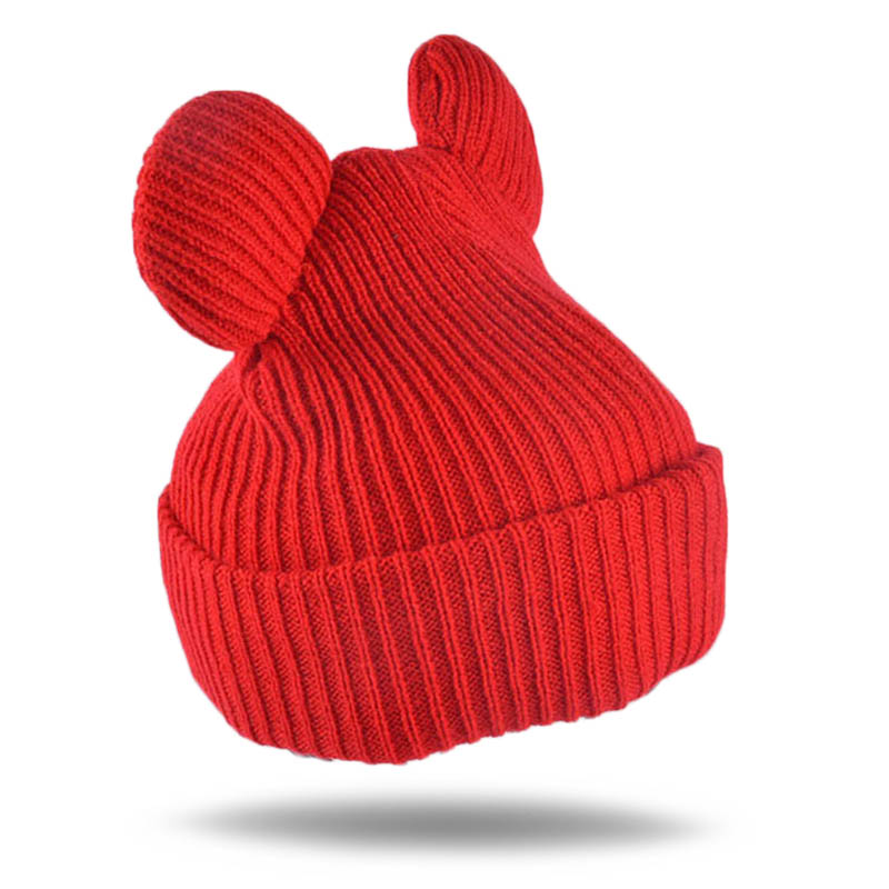 144d514f5c081 Cute Ear Hats Caps Female Children Lovely Warm Beanies Cute Devil Horns Ear Women  Cap knitted crocheted hats Christmas Hats-in Skullies   Beanies from ...