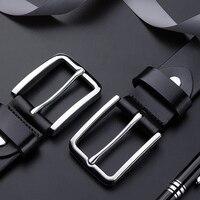 genuine leather belt men for Trousers accessories men's luxury brand belts designer belts man high quality Baieku Pin Buckle