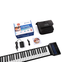 IWord Professional S3088 Silicon Flexible 88 Keys Hand Roll Up Piano Built in Dual Speakers