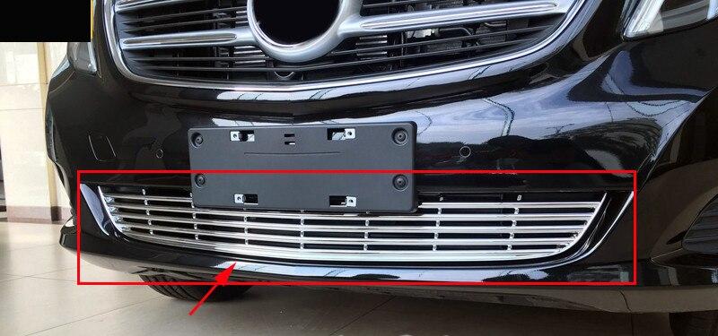 Moldura de cubierta de rejilla de parachoques frontal inferior para mercedes benz Viano clase V W447 2014 2016-in Parachoques from Automóviles y motocicletas
