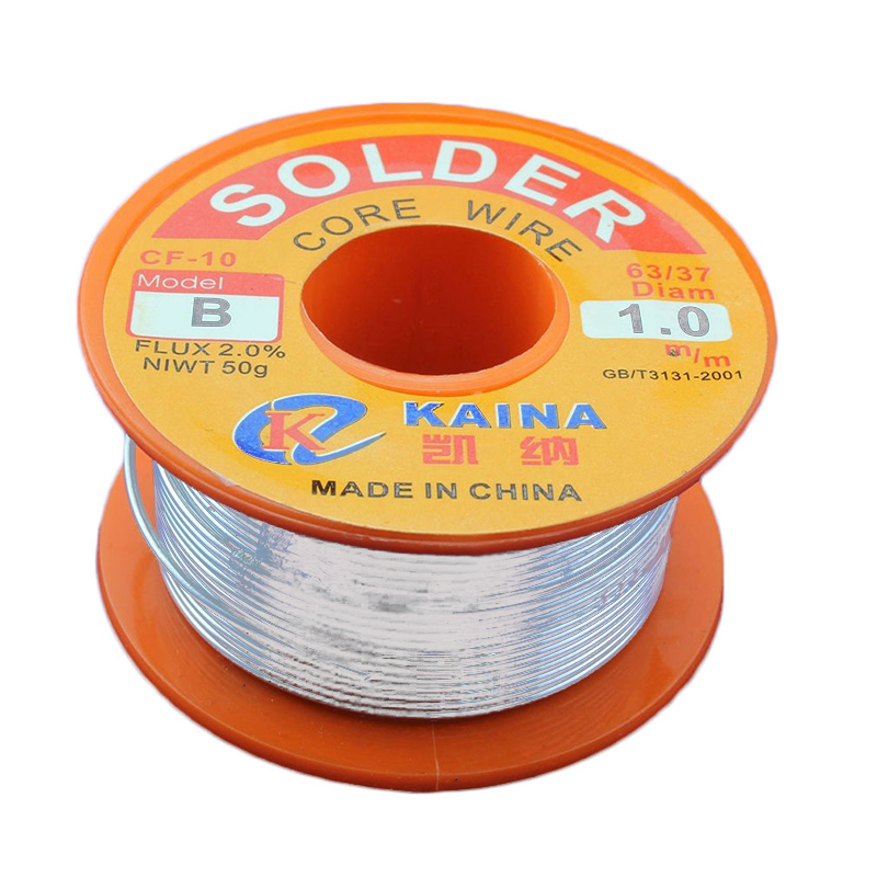 1pc Tin Lead Solder Wire 63/37 Rosin Core Welding Iron Wires Reel Roll 50g/100g 0.5-2.0mm цена
