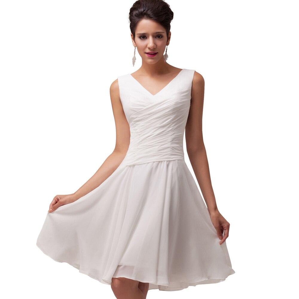 Junior Girls Short Bridesmaid Dress Vestido de Festa V ...