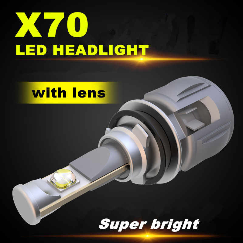 Inlong X70 H7 LED Bulb With CREE H4 Led D4S H1 H8 H9 D2S H11 9005 D3S 9006 HB4 HB3 D1S Car Headlight Bulbs  6000K Fog Lights 12V