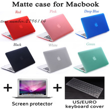 2016 NEW Matte Case For Apple Macbook Air Pro Retina 11 12 13 15 Laptop Cover Bag For Mac book 13.3 inch with Gift