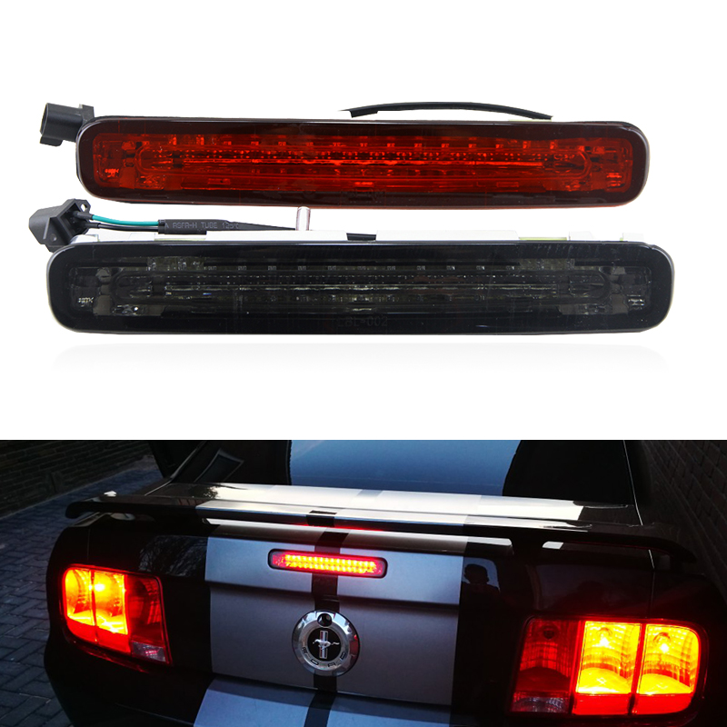 OEM Fits For Ford S197 Mustang 2005 2006 2007 2008 2009 Led Third 3rd Brake Center Light Lamp Smoke Red Lens Car-Styling аккумулятор холода camping gaz аккумулятор холода 0 7 кг