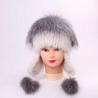 Mink Fur Grass Ma Am Fox Hair Hats For Women Manual Sew High Archives Winter Balaclava