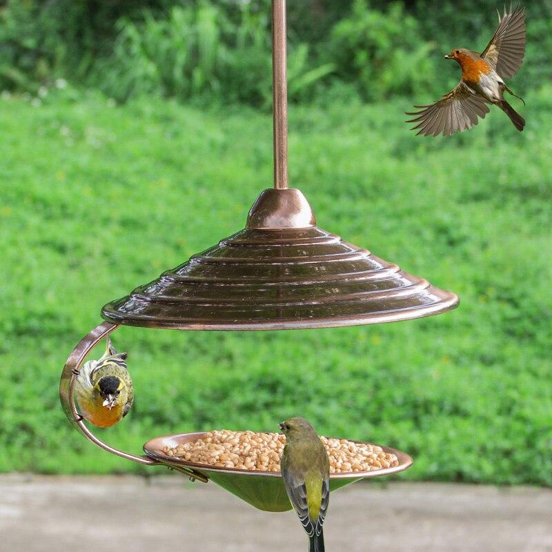 Mangeoire pour oiseaux sauvages Style européen mangeoire pour oiseaux en plein air s récipient de nourriture pour la maison balcon accrocher Pet