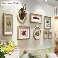 Photo Frames for Picture Gold Color 8 Piece Picture Frame American Style Wooden Photo Frame Free Shipping