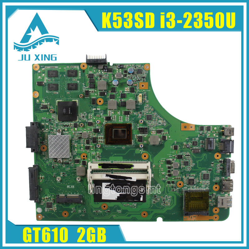 for ASUS K53SD REV:6.0 Laptop motherboard with i3-2350M CPU USB3.0 K53SD GT610M 2GB DDR3 HM65 Chip 8*Memory 100% Tested original fully tested laptop motherboard for asus 1215 1215n vx6 rev 1 4 with cpu intel ddr3 and free shipping