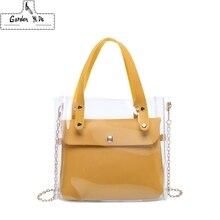 Small Leather Handbags for Women 2019 Transperent PVC Hand B