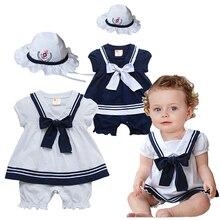 Bebê recém-nascido Roupas de Menina Infantil Vestido de Romper com Arco Nó Macacão + Chapéu Terno Do Bebê da Menina da criança Traje Roupas Bebe roupas