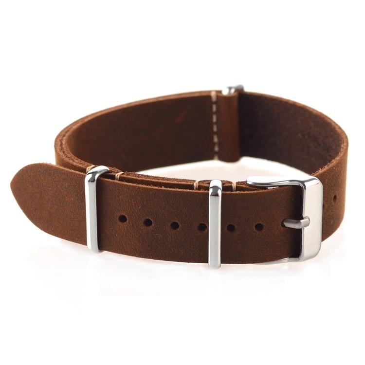 genuíno otan pulseira de relógio marrom correias 18mm 20mm 22mm pequeno buraco