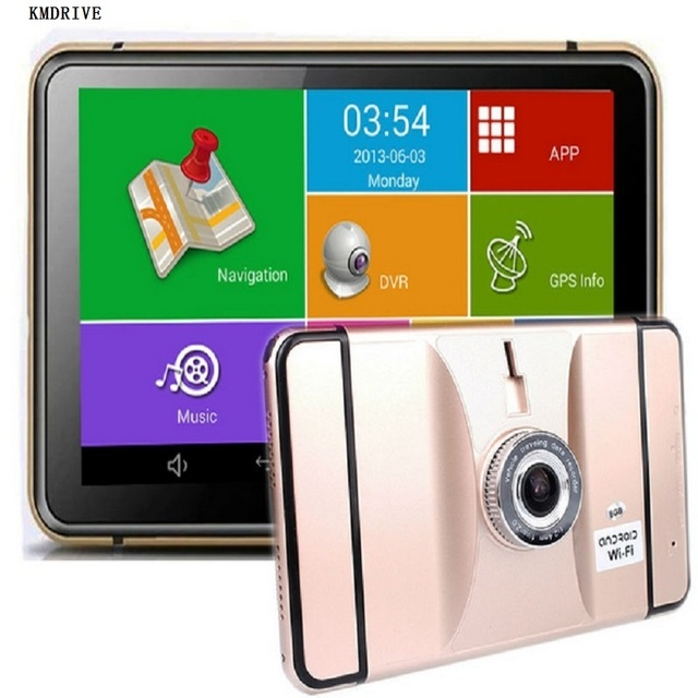 7 inch Android GPS Navigation Car DVR Wifi AV-IN Bluetooth FM transmitter 512/8G 16GB Bundle free latest maps