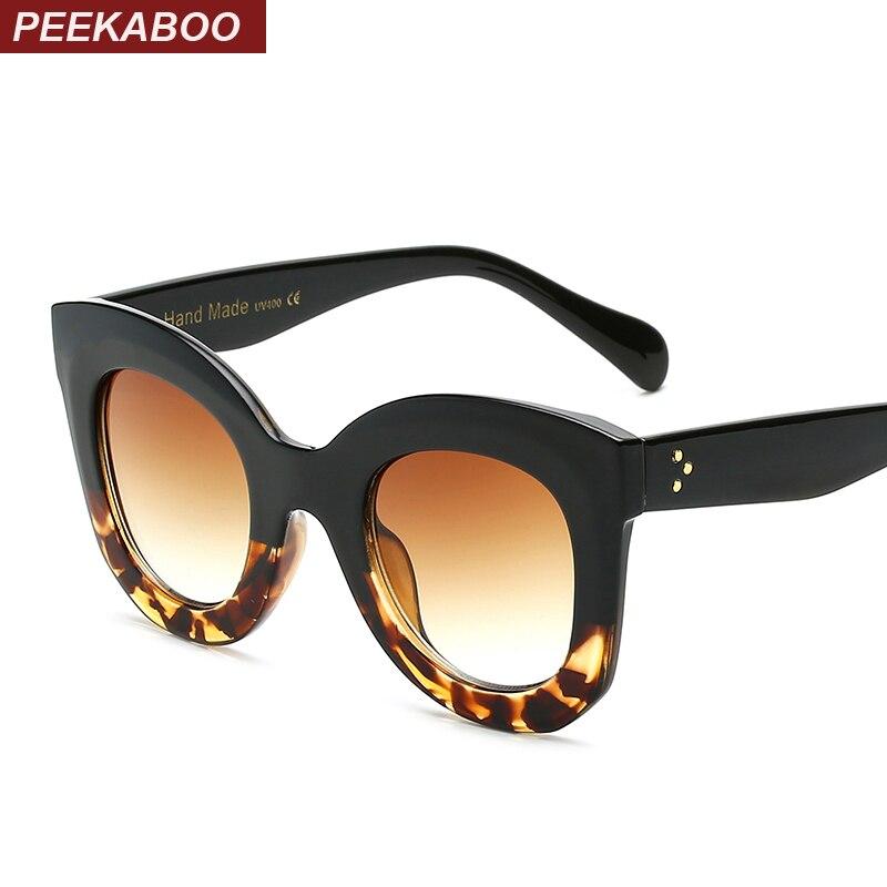 Peekaboo women big frame sunglasses cheap 2017 gradient fashion ladies sun glasses red black white plastic