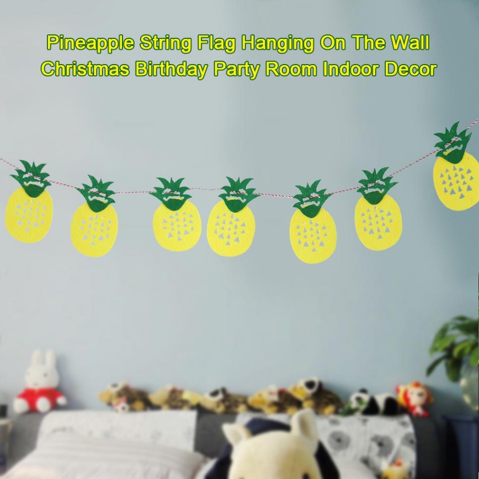 Pineapple Flags And Banners Party Hanging Wall Fruit String Birthday ...