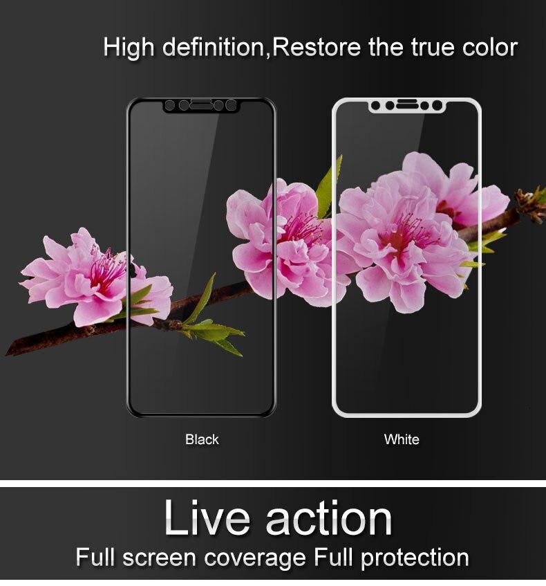 IMAK Anti-Explosion couverture Complète Trempé De Protection Film Pour l'iphone X Protecteur D'écran En Verre Film Pour iPhone X Glas Film