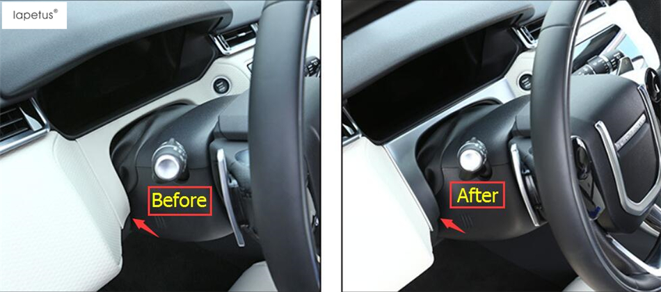 Accessories For Land Rover Range Rover Velar 2018 Dashboard Under Middle Control Decoration Frame Molding Cover Kit Trim 1 Pcs land rover windshield molding a pillar range r sport 05 13 rh oem new lr046846