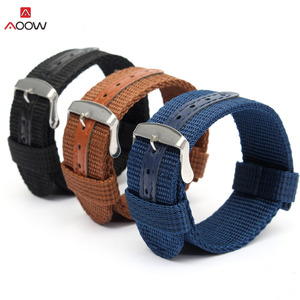 AOOW Nylon Watchband 18mm 20mm 22mm 24mm Replacement Belt Watch Band Strap Wrist Strap Watch Accessories Universal Hot Sell(China)