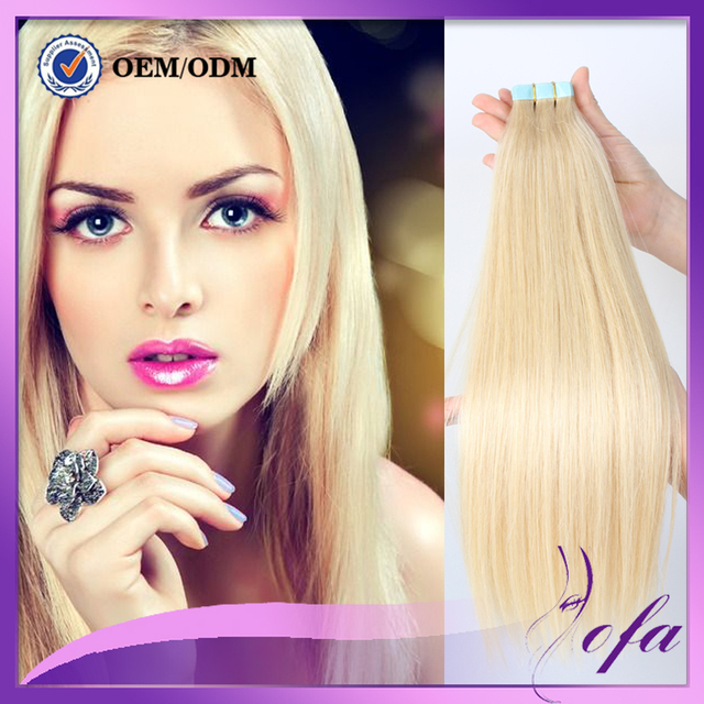 Cheap Remy Double Drawn Tape Hair Extensions 24 Inch Russian Hair