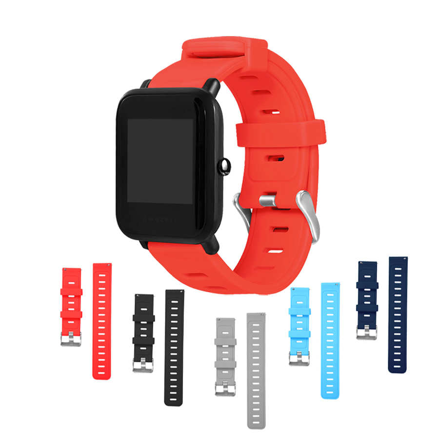 Silicone Strap Watchband for Xiaomi Huami <font><b>Amazfit</b></font> pace/stratos <font><b>2</b></font>/stratos 2s/bip <font><b>bit</b></font> youth watch,Wrist Strap for Samsung gear s3 image