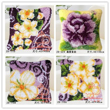 new diy Pillow embroidery carpet blanket knitting needle felt craft cushion carpet lock hook cross stitch cartoon baby floral(China)