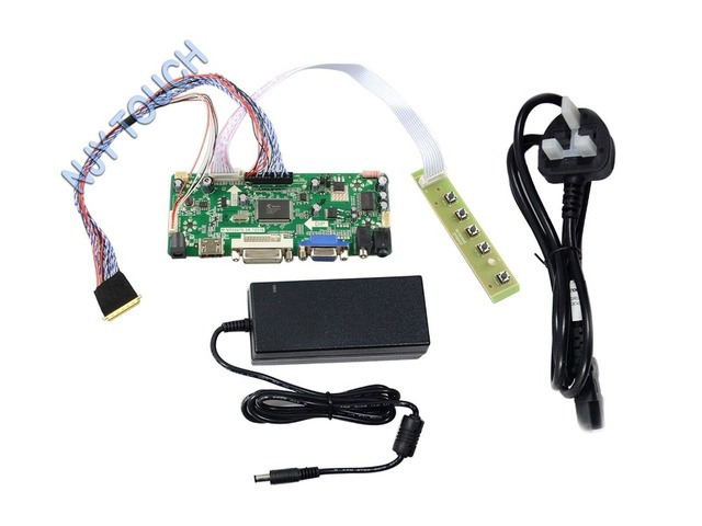 New Universal M.NT68676.2A HDMI DVI VGA AUDIO LCD/LED Controller Board Kit with cable Keypad CCFL +12V.4A Power Adapter