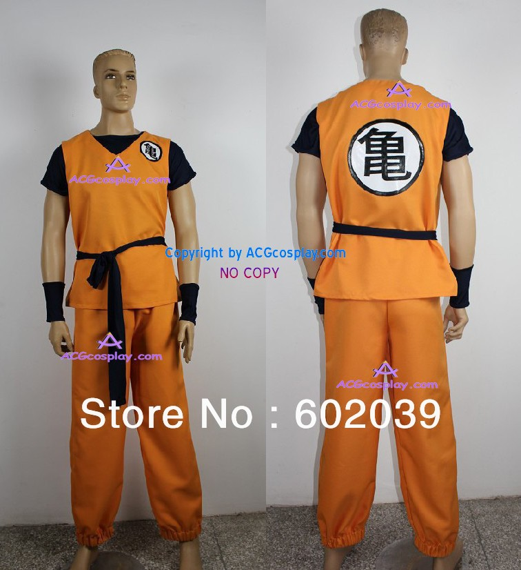 Dragon Ball Z GOKU cosplay costume include BOOTS COVER GOOD quality ACGcosplay family vnk 75 120
