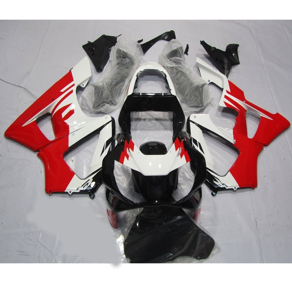 motorcycle full injection fairing kit for honda cbr 929 rr cbr900rr cbr929rr 2000 2001 cbr 929rr cbr900 00 01 white red uv paint [ 1000 x 1000 Pixel ]