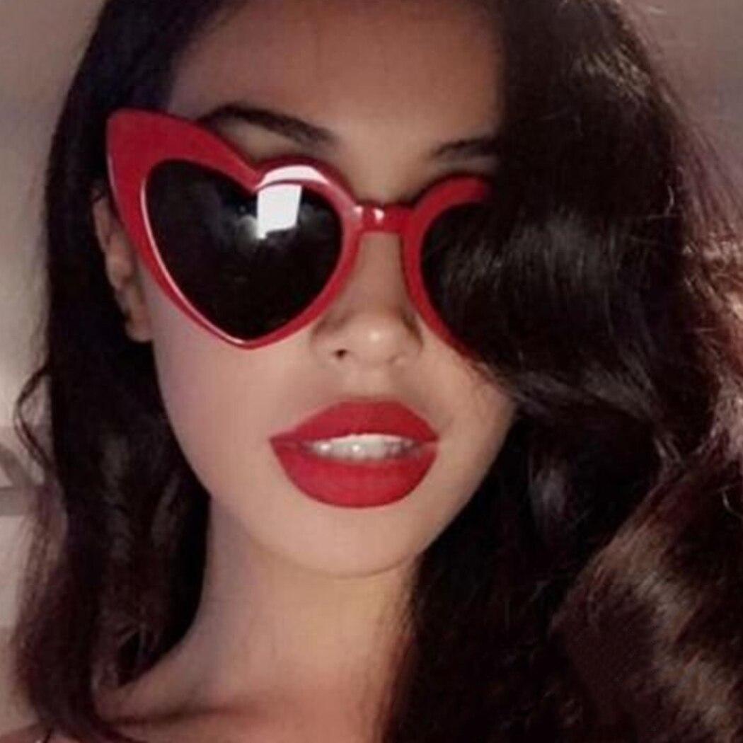 Heart-Shaped <font><b>Sunglasses</b></font> Peach Heart <font><b>Sunglasses</b></font> Soft Sister Harajuku Cute Glasses <font><b>Beige</b></font> Autumn And Winter New High Quality