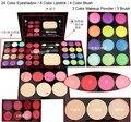 OS ANÚNCIOS de Cor sombra + Batom + Blush + Pó + Sopro Ferramenta Pincel de Maquiagem Make Up Set Kit