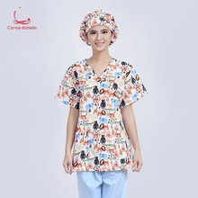 Printed hand-washing clothes operating room short sleeve full cotton can be high temperature sterilization