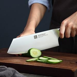 Image 2 - XINZUO 4 PCS מטבח סכין סט נירוסטה גרמנית 1.4116 פלדה באיכות גבוהה שף Santoku Nakiri קצבי סכיני אבוני ידית